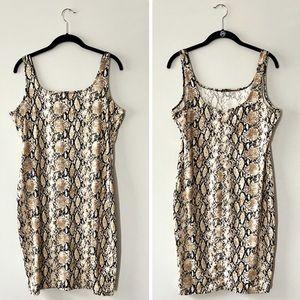 IRIS Snake Print Bodycon Mini Dress 2X